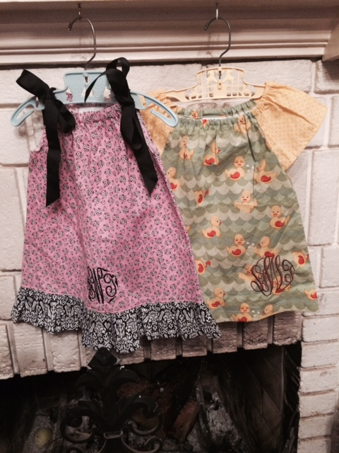Monogrammed Dresses